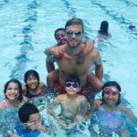 Private home group swim lessons