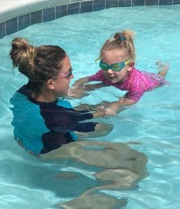 InstaSwim Instructor Teaching At Home Swim Lessons