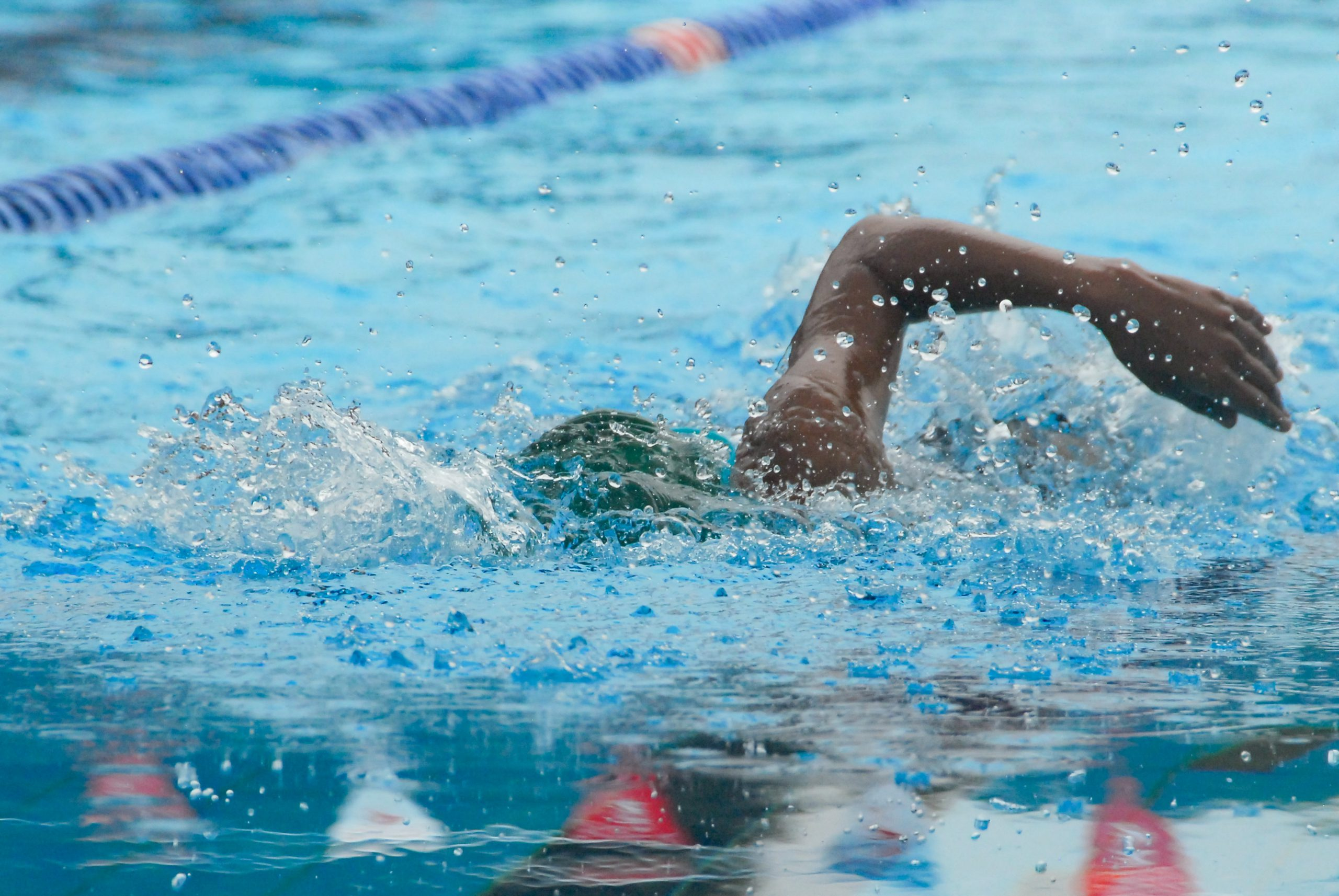 Man Freestyle Swim Stroke