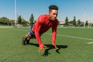 Soccer Player Doing Workouts For Abs