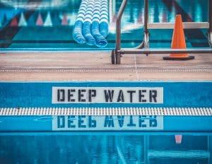 Deep Water Pool Sign