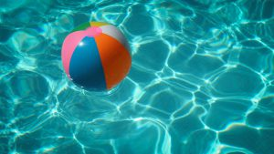 Beach Ball On Top Of Water