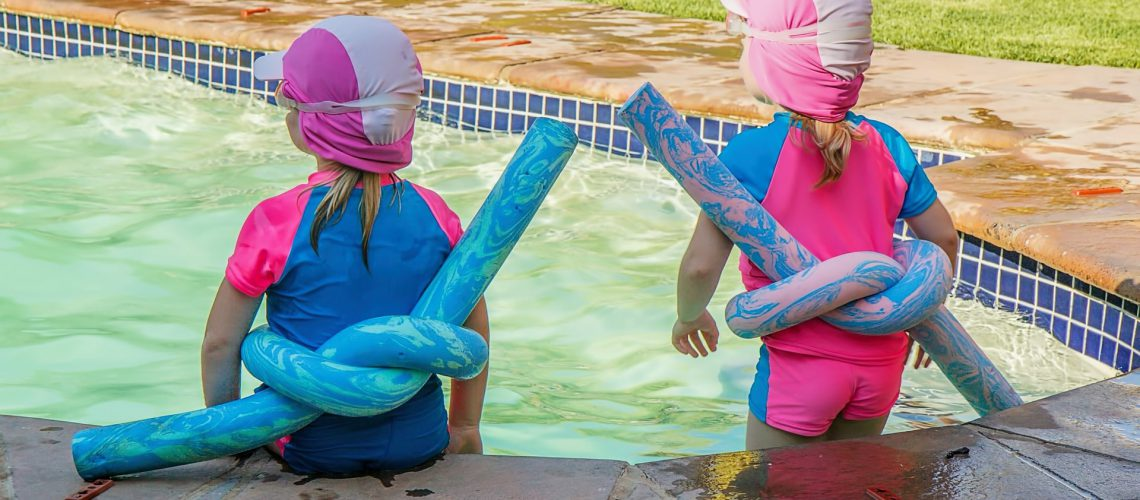 Toddlers Dressed For Swimming Classes For Kids